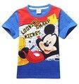 2017 Nova Primavera Verão Crianças Tees Moda Mickey Rato Dos Desenhos Animados Manga Curta T-shirt Crianças Roupas de Impressão Do Bebê Meninos Camisetas