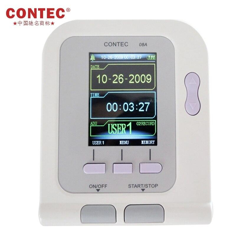 Automatic Electronic  Blood Pressure  Monitor CONTEC08A  + SPO2 Probe + 3 CUFFS