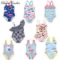 Mädchen Bademode Badeanzug Baby Mädchen Badeanzüge Gedruckt Sexy Kinder Dreieck Bikini Schwimmen Kleidung Kinder Monokini