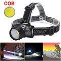 Bicicleta Passeio Equitação Ciclismo Chefe Lâmpada Luz COB LED Farol Dianteiro l7117