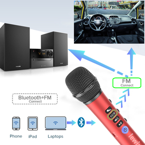 Image 4 - Lewinner L 698 professional 15W portable USB wireless Bluetooth karaoke microphone speaker with Dynamic microphone