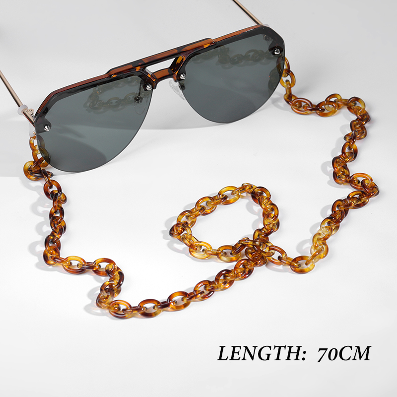 Latest Tortoise Shell Acrylic Eyeglass Chain Necklace For Women, Tortoise Sunglasses Holder Chain Free Dropshipping