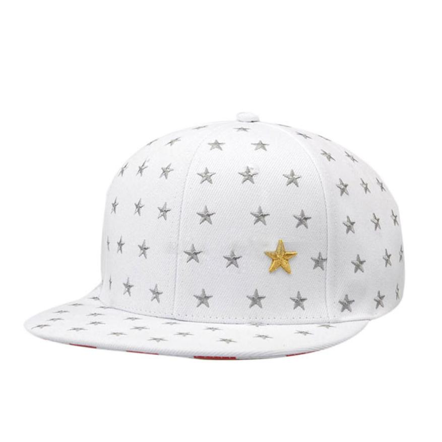 2017 Men Women Embroidered Star Sun Hat Baseball Cap Hip Hop Dance Hat Cap Women Men Casquette Male Bone Baseball Cap De292 2016 new new embroidered hold onto your friends casquette polos baseball cap strapback black white pink for men women cap