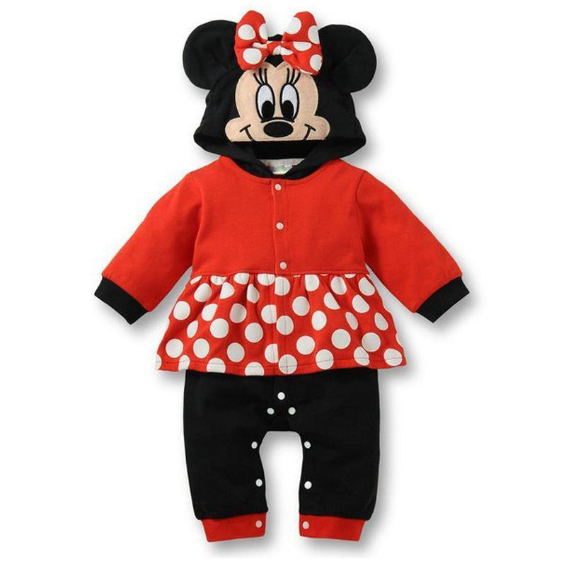 Fantasia Minnie Long Sleeve Autumn Baby Rompers Toddler Overalls Kids Jumpsuit Macacao Bebe Baby Girl Clothes Infant Clothing newborn baby rompers baby clothing 100% cotton infant jumpsuit ropa bebe long sleeve girl boys rompers costumes baby romper