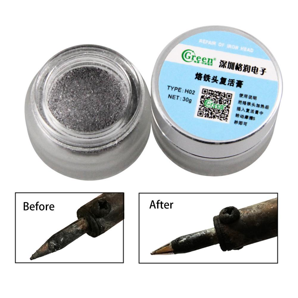 Mini Lead Free Electrical Soldering Iron Tip Refresher Resurrection Cream Clean Paste for Oxide Soldering Tips Cleaning|Welding Tips| |  - title=