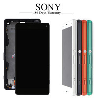 Original Screen For Sony Xperia Z3 Compact LCD Touch Display D5803 D5833 Digitizer + Frame for Sony z3 mini Screen Replacement