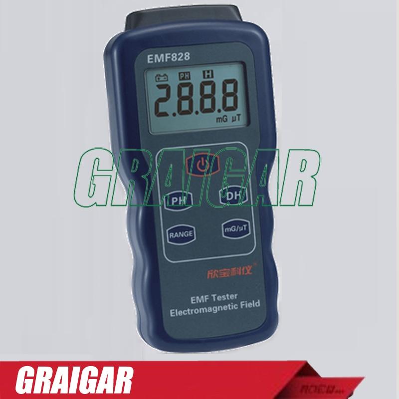 Field Intensity Meter  EMF828 Digital Low Frequency Magnetic EMF Meter tes 1390 electrosmog meter emf meter