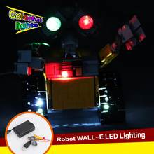 Led Light Kit For LEGO 21303 Idea Robot WALL E Building Set Kits Toys Eyes Light (only Light Kit Included)(China)
