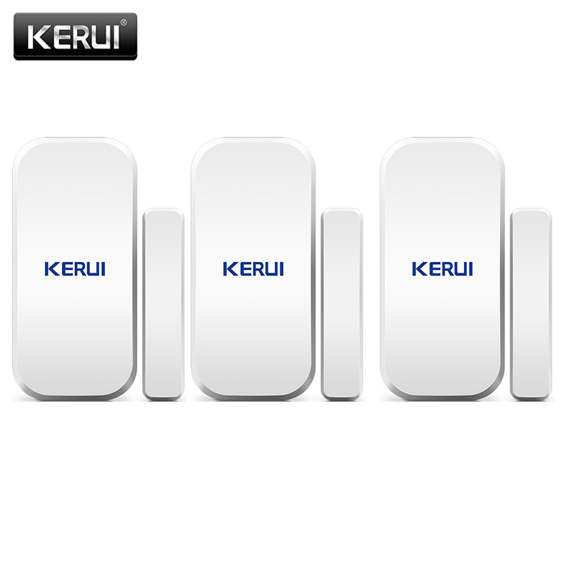 KERUI Wireless Door Magnetic Sensor Detector For Touch Keypad Panel GSM PSTN Home Security Burglar Voice Alarm System