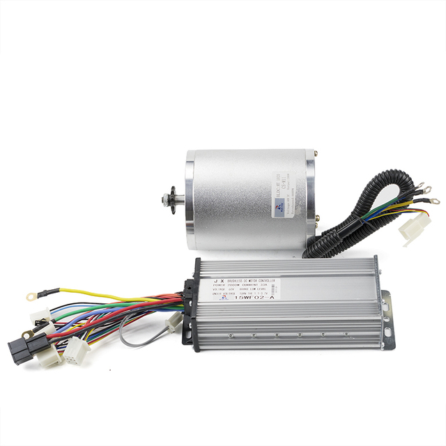 New 60V 2000W DC Brushless Motor With 15MOSFET 33A BLDC Controller Motor Ebike Kit For Electric Bike Scooter Engine 4600RPM 4N.m