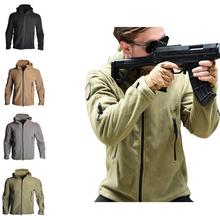Softshell Tactical Fleece Lining Jacket Men Outdoor Hiking Camping Windbreaker Thermal Jacket Tactical Hunting Sport Clothes 2016 new winter wterproof thermal outdoor hiking softshell jacket men fleeced sport jacket coupe vent homme