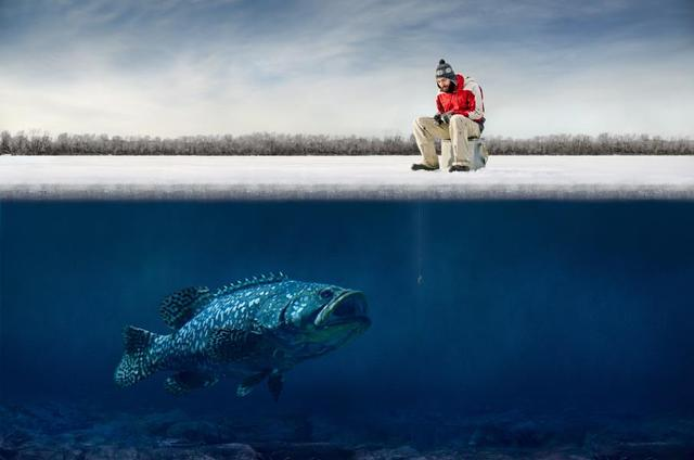 Custom Canvas Wall Decor Funny Guy Ice Fishing Poster Ice Fishing Wallpaper  Fantasy Art Wall Stickers