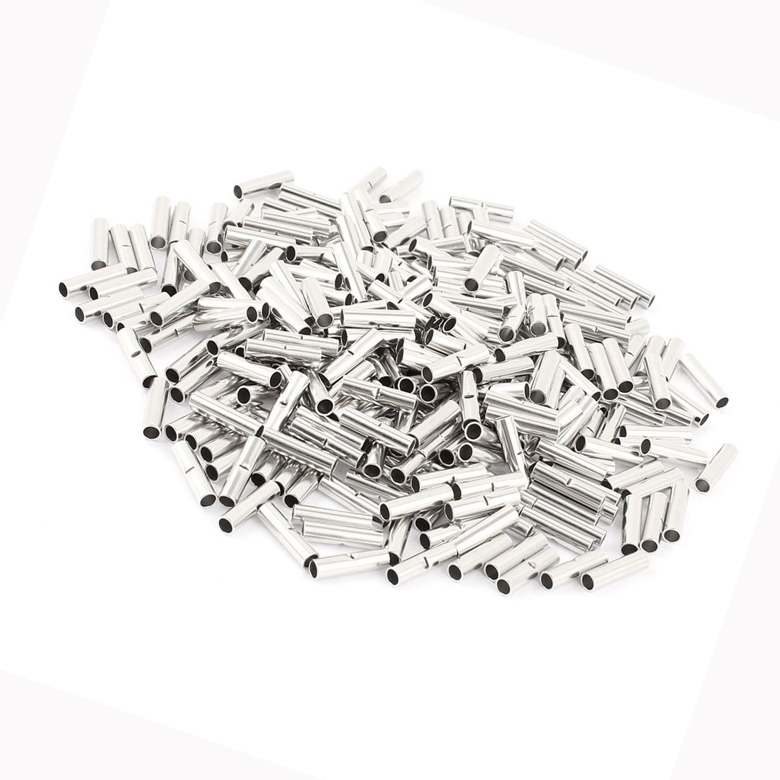 HHTL-300Pcs BN-2 Uninsulated Butt Connectors Terminal for 16-14 A.W.G Wire