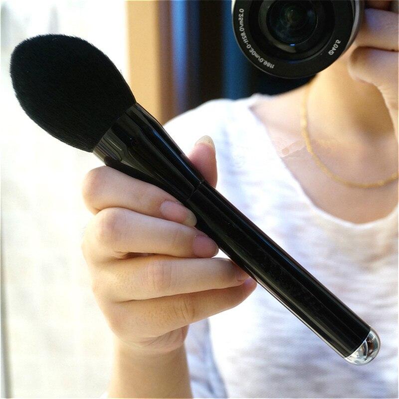 ¡Nueva llegada! Maquillaje de cara suave brocha de maquillaje en polvo grande brocha de maquillaje de base de colorete brochas de aluminio para cosméticos grandes