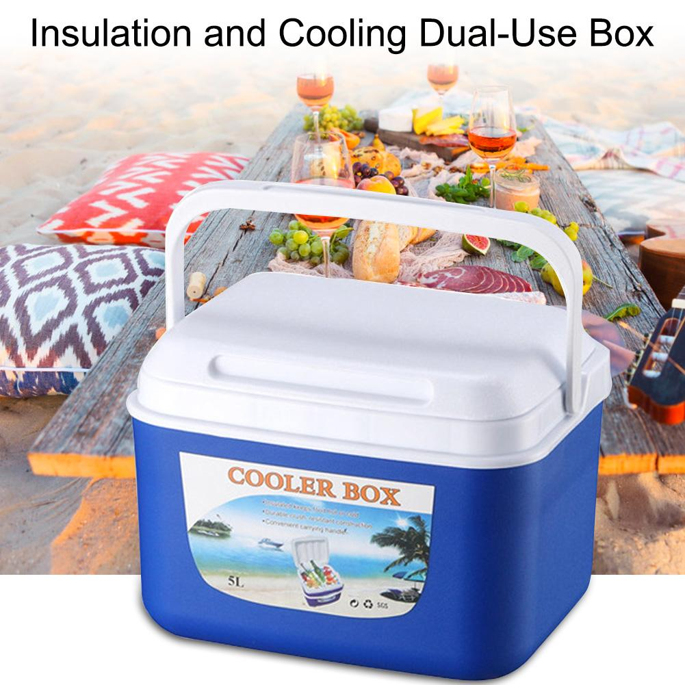 Portable 5L Outdoor Car Insulation Cooling Dual-use Food Box Incubator Food Storage Cold Box Fishing Cooler Box Picnics Fishing(China)