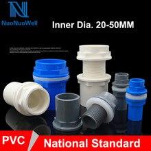 Nuonuowell conector de rosca para aquário, conector 20/25/32/40/para tanque de peixes solda solvente 50mm