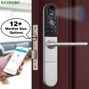 Image 1 - Raykube Elektronische Deurslot Met Vingerafdruk/Smart Card / Bluetooth Unlock Wifi Tt Lock Telefoon App Keyless Insteekslot r F918