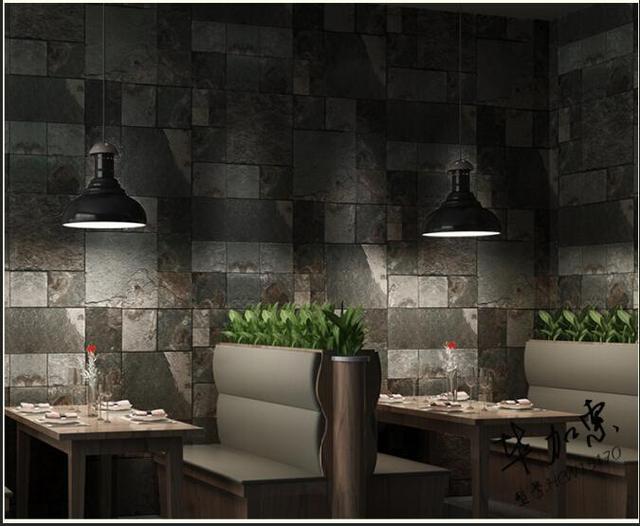 Ladrillo modelo piedra vinilo wallpaper roll decoraci n for Wallpaper sala de estar