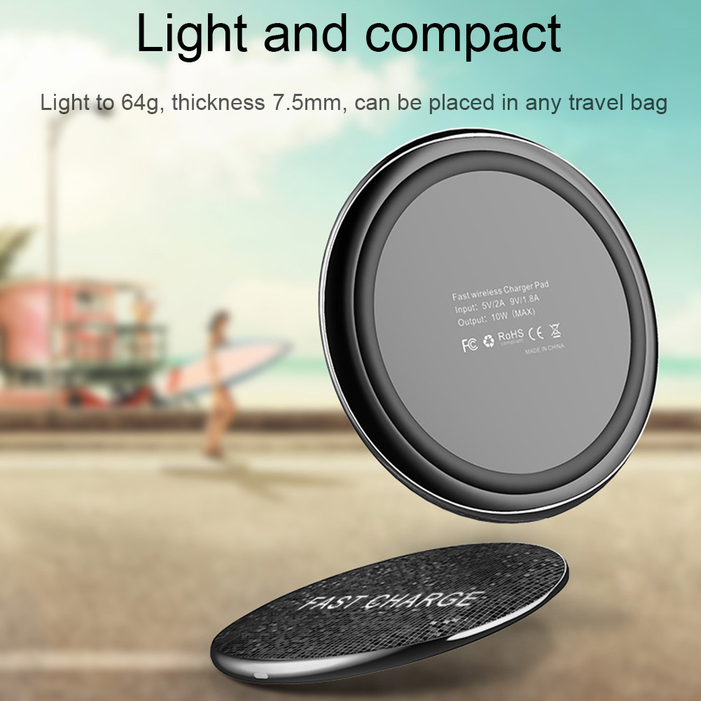 HOT Wireless Charger Fast Charging Indicator Light Portable Ultra Thin for Mobile Phone BUS66