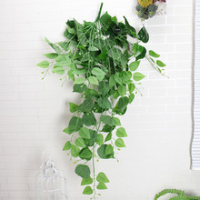 Wall Artificial flower Boston Ivy Vine String Hanging Green Plant Rattan Plastic Leaves Wedding Balcony Ceiling Party Home Decor flower vine rattan hanging plant artificial plant leaves wall accessories balcony decorattion home decoration