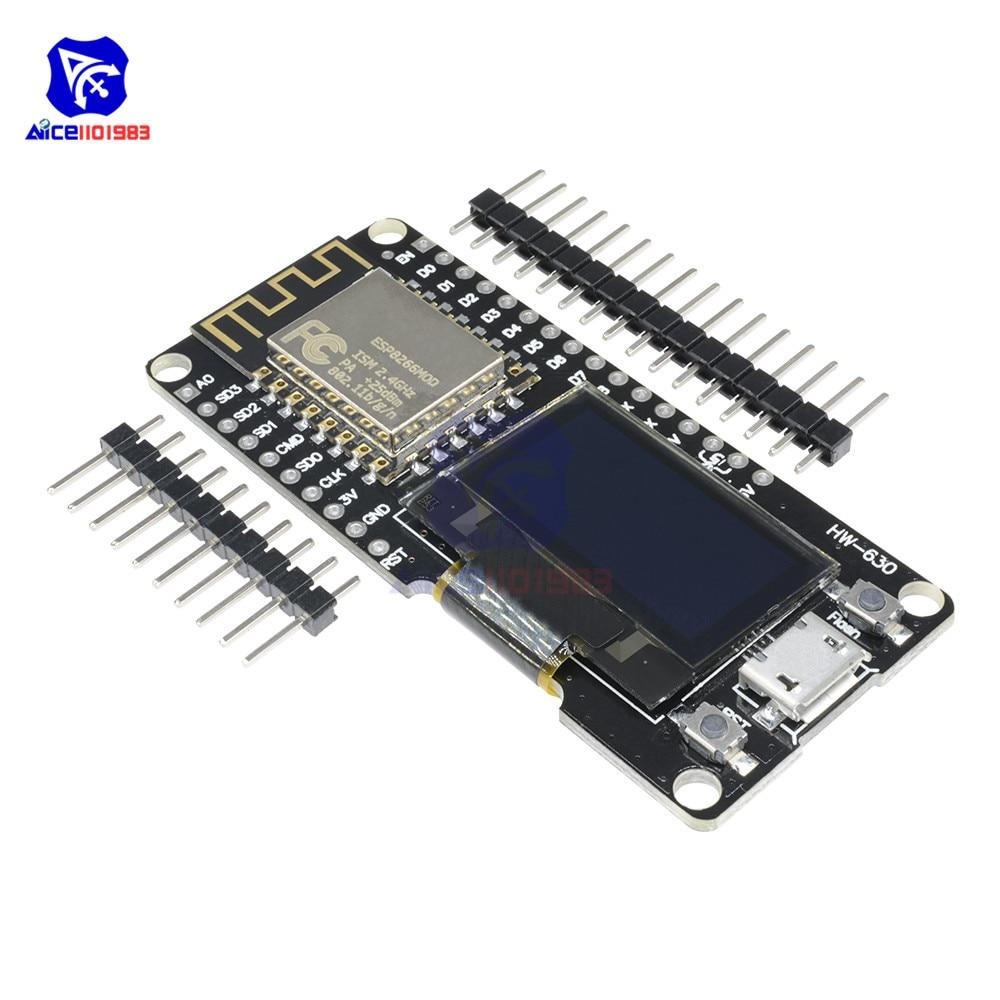 ESP8266 ESP-12F WIFI Module Wireless CP2102 Development Board 0.96 Inch OLED Display With Pin For Anrduino NodeMCU WeMos