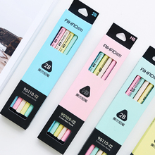Buy 12 pcs/Lot 5 color black & pastel pencil Wood Standard 2B Macaron pencils for drawing Stationery Office school supplies 6192 directly from merchant!