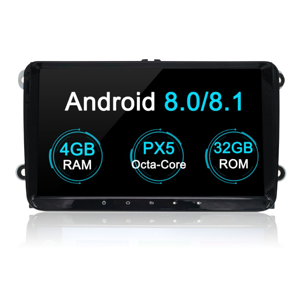 Aotsr Android 7,1 8,0 Автомобильный мультимедийный gps naviation DVD плеер для Volkswagen Seat Leon Skoda Fabia 2 Din media Радио стерео