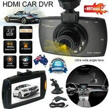 Full HD 1080 P Видеорегистраторы для автомобилей Камера регистраторы видео 2,7 дюйма ЖК-дисплей Дисплей Ночное видение автомобиля Камера Регистраторы