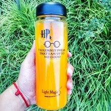 HP Water Bottle 500ml Summer Sport Fruit Lemon Juice Drinking Bottle Infuser Clear Healthy Plastic Water Bottle