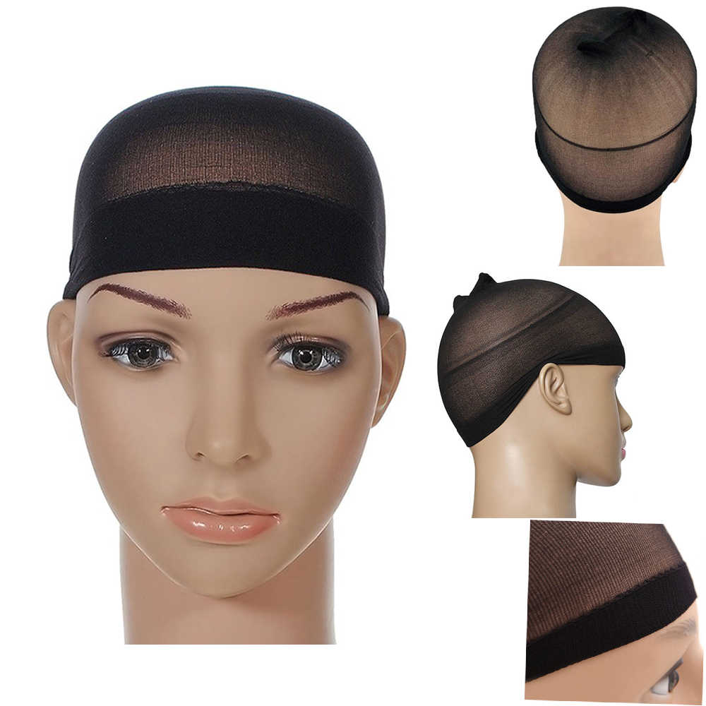 Stretch Unisex Full Nylon Wig Cap Netural Nude Beige for Human Hair Full Wigs Liner Hairnet Snood Glueless Dome Cap