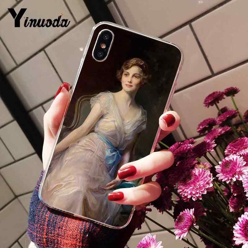 Yinuoda винтажный косметический чехол для телефона с розами для девочек iPhone8 7 6 6S Plus X XSMAX 5S SE XR 10 11 11pro 11promax