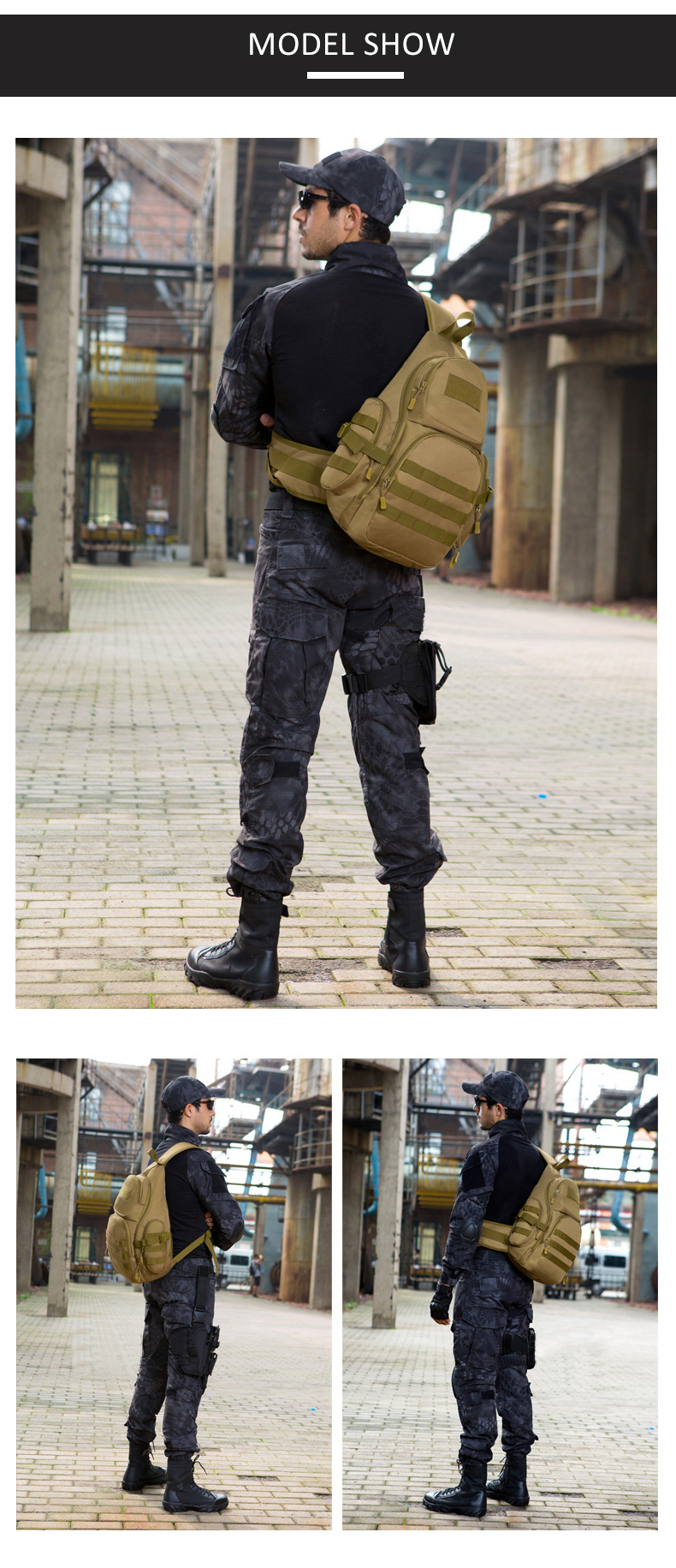 HTB1fzSEh CWBKNjSZFtq6yC3FXaV - Men 20-35L Tactical Sling Bag Waterproof Shoulder Sports Bag Tactical Military Backpacks Camping Outdoor Single Belt Chest Pack