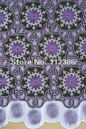 Free shipping african fashion lace,SWISS VOILE LACE,african lace fabric,heavy big design,new designs  SL106007