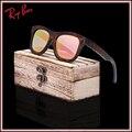 2017 produtos da marca de moda das mulheres dos homens óculos de sol óculos de sol de bambu de madeira do vintage hd polaroid uv400 óculos de lente moldura de madeira feitos à mão