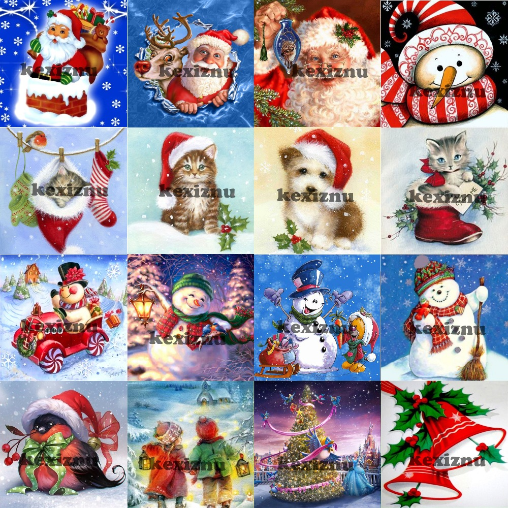 Hot Sale Christmas Greeting Card 5d Diy Full Square Round Stone