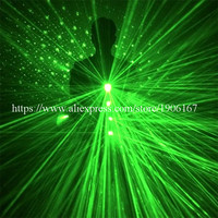 Newest Green Laserman Suit Luminous Waistcoat 532nm 100mW Green Laser Man Costume Clothes For Laser Show Party Supplies