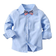 AJLONGER Boys Shirts Classic Casual Children For 1-6  Years Kids Boy Wear
