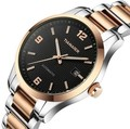 Delicate Fashion Businessmen Automatic Watch Self Wind Men Analog Dress Clock Gold Plated 316L Band Sapphire Relojes 3ATM NW1422