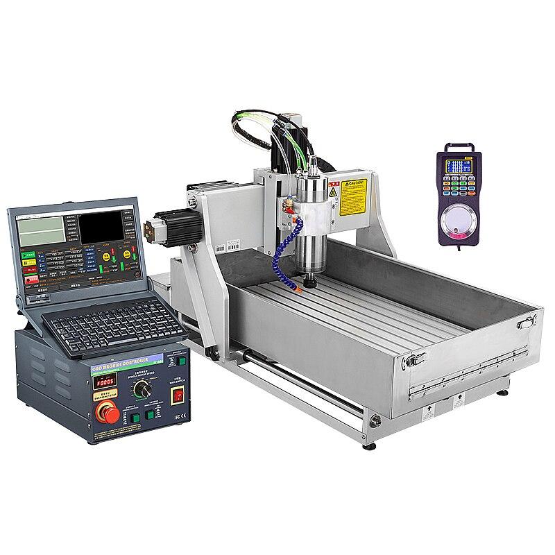 CNC 4030 routeur 2.2KW 3 axes en métal pierre bijoux gravure machine de découpe réservoir d'eau