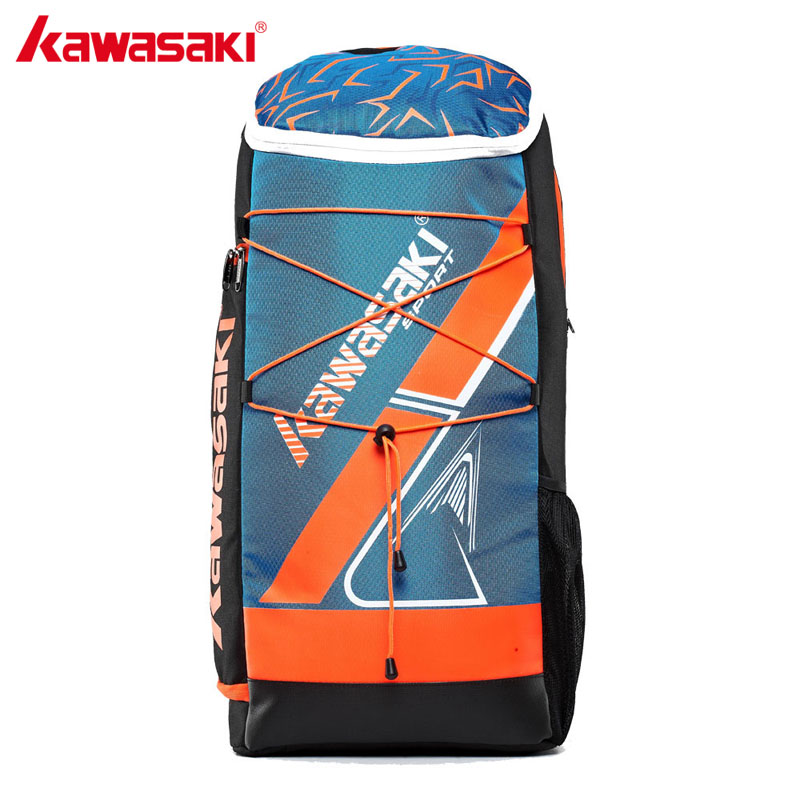 Kawasaki KBB-8230 Badminton Bag Backpack Three Racket Capacity Men Women Badminton Tennis Racket Back Pack Racquet Sports Bags