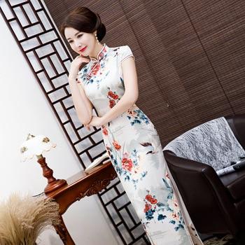 7aa72f9fb4a7dcd Большие размеры, S-4XL, длинное винтажное китайское платье ченсам ...