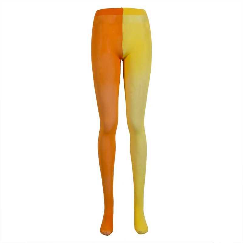 ผู้หญิงเซ็กซี่ 2 สี Patchwork ถุงน่อง Pantyhose ถุงน่องถุงน่องยืดหยุ่น Pantyhose