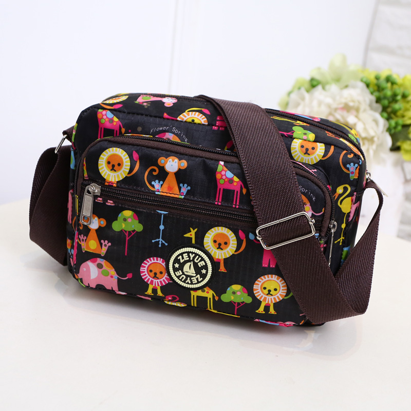 Cute Animals Pattern Zipper Diaper Bags Fashion Nappy Bag For Mommy Outdoor Baby Changing Bag For Stroller mochila maternidade