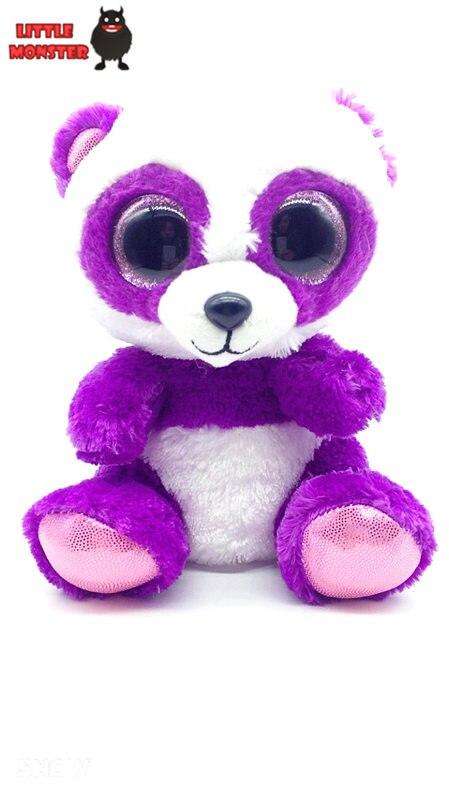 Ty Beanie Боос Оригинальные Большие Глаза Плюшевые Игрушки Куклы 10-15 см Фиолетовый Медведь ТИ Детские Для Детей Со Дня Рождения подарки
