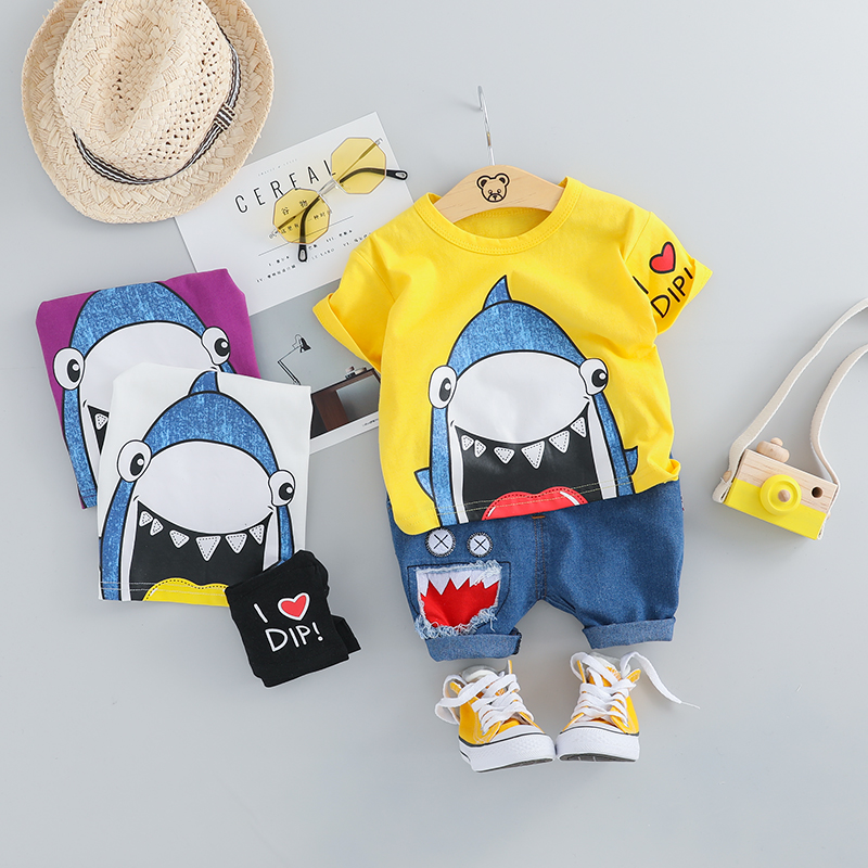 Boys' Baby Clothing Arloneet Clothes Baby Boys Cartoon Shirt Panda Shorts Funny Kids Tops Beach Shirt For Boys 2pcs 2019 Summer Toddle Boy Outfits