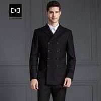Tailor made Men Double Breasted Wool Suit Slim fit Wedding Suit Men Tuxedo 2 Pieces(Jacket+Pants) No.SZ160XX