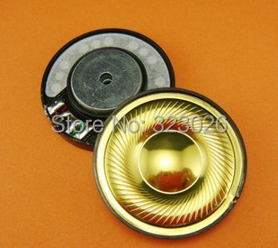 40mm speaker unit Gold diaphragm polymer unit middle hole copper rings headphone speaker