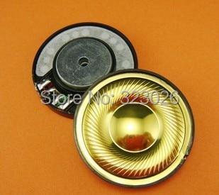 40mm speaker unit Gold diaphragm polymer unit middle hole copper rings headphone speaker