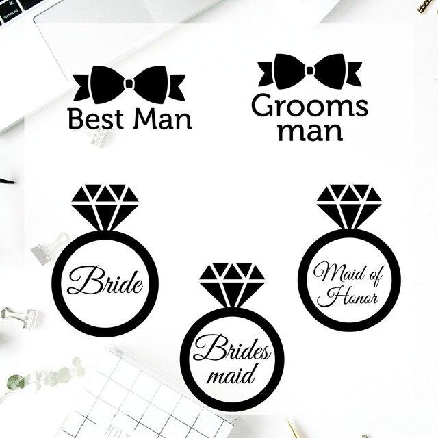 Yeti Vinyl Decal Sticker Best Man Gl Cup Symbol Groomsman Maid Of Honor Custom