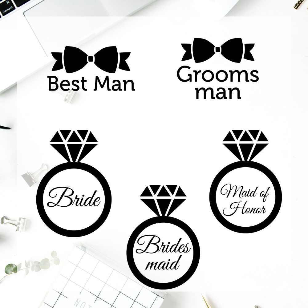 Yeti vinyl decal sticker best man glass sticker cup symbol groomsman maid of honor custom vinyl